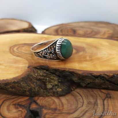 Yeşil Doğal Taşlı Yüzük